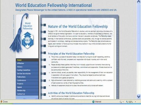 World Education Fellowship International Home Page