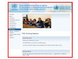 fifth Open ended Working Group on Ageing.